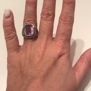 Periwinkle Cocktail Ring, Size 6